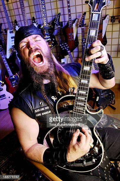 American guitarist Zakk Wylde former guitarist for Ozzy Osbourne and founder of the heavy metal band Black Label Society Playing his signature Gibson...
