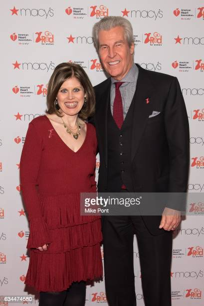 American Heart Association CEO Nancy Brown and Macy's Inc Chairman and CEO Terry J Lundgren attend the American Heart Association's Go Red for Women...