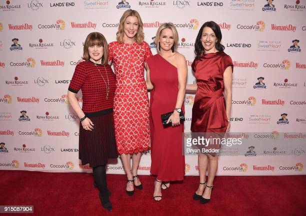 American Heart Association CEO Nancy Brown Woman's Day Editor in Chief Susan Spencer Honoree and Chief Medical Correspondent Jennifer Ashton MD and...