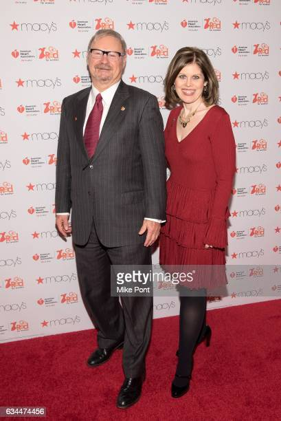 American Heart Association Chairman Alvin Royse and American Heart Association CEO Nancy Brown attend the American Heart Association's Go Red for...