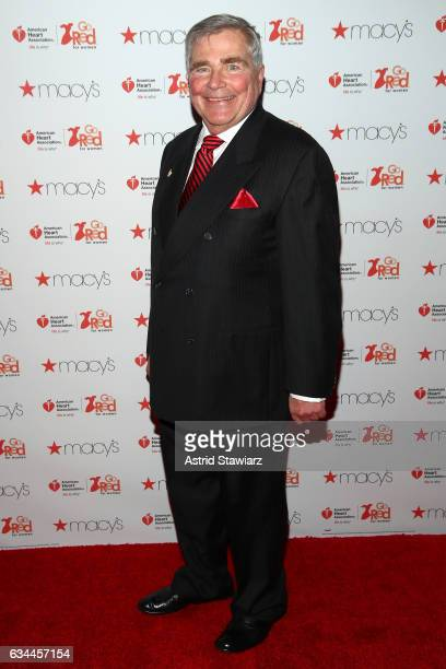 American Heart Association Immediate Past Chairman Bernie Dennis attends the American Heart Association's Go Red For Women Red Dress Collection 2017...