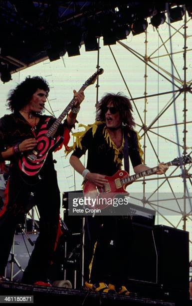 American heavy metal band Twisted Sister on stage circa 19821984