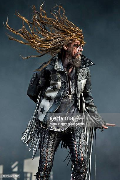 American heavy metal musician Rob Zombie performing live on the Stephen Sutton Main Stage at Download Festival on June 13 2014
