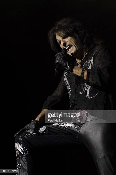 American heavy metal singer Alice Cooper performs at the Sears Centre in Hoffman Estates, Illinois, September 22, 2007.