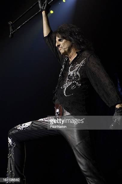 American heavy metal singer Alice Cooper performs at the Sears Centre in Hoffman Estates Illinois September 22 2007