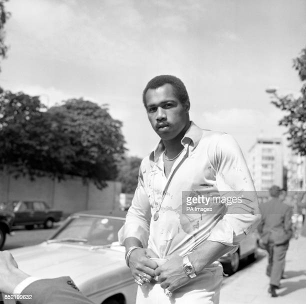 American heavyweight boxer Ken Norton in London where he was promoting his film Mandingo in which he plays the title role