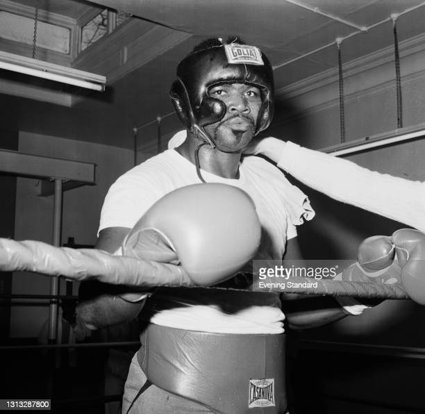 American heavyweight boxer Mac Foster , UK, 7th November 1973. He is in London to fight Britain's Joe Bugner at the Empire Pool in Wembley on 13th.