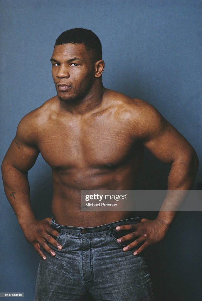 American heavyweight boxer Mike Tyson in Catskill, New York State, 1985.