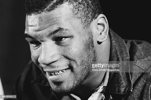 American heavyweight boxer Mike Tyson pictured at a press conference in the United States in February 1990 Mike Tyson would lose his WBA WBC and IBF...