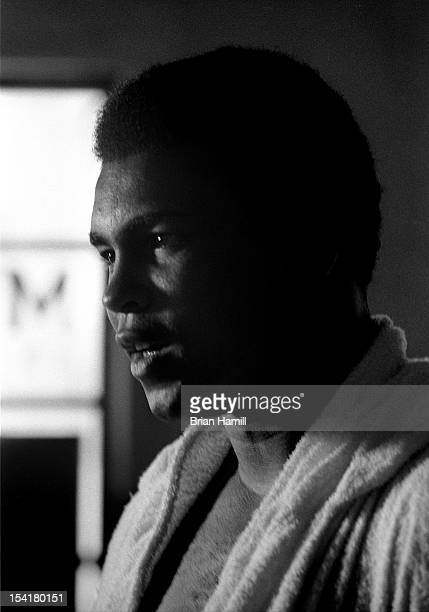 American heavyweight boxer Muhammad Ali during training at the 5th Street Gym Miami Florida 1971 Ali was in training for an upcoming bout with Joe...