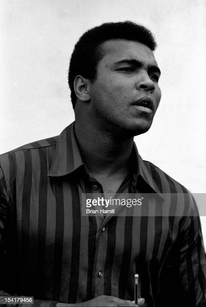 American heavyweight boxer Muhammad Ali outside the 5th Street Gym Miami Florida 1971 Ali was training at the gym for an upcoming bout with Joe...