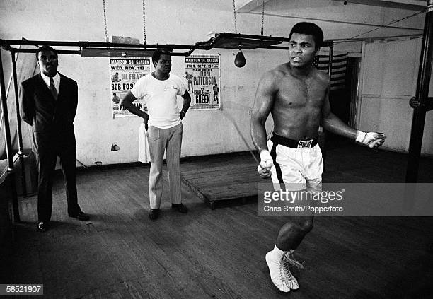 American heavyweight boxing champion Muhammad Ali training at Chris Dundee's 5th Street gym Miami Beach March 1971