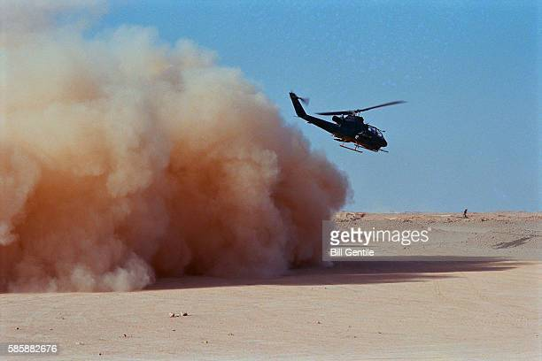 American Helicopter Taking off During Gulf War