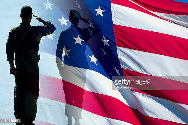 american heroes ii - saluting stock pictures, royalty-free photos & images