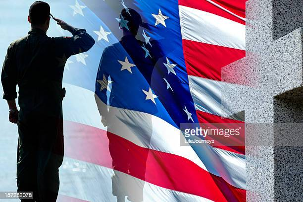 american heroes - saluting stock pictures, royalty-free photos & images