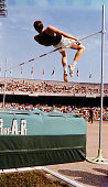 American high jumper dick fosbury pictured using the new fosbury flop picture id719756843?s=170x170
