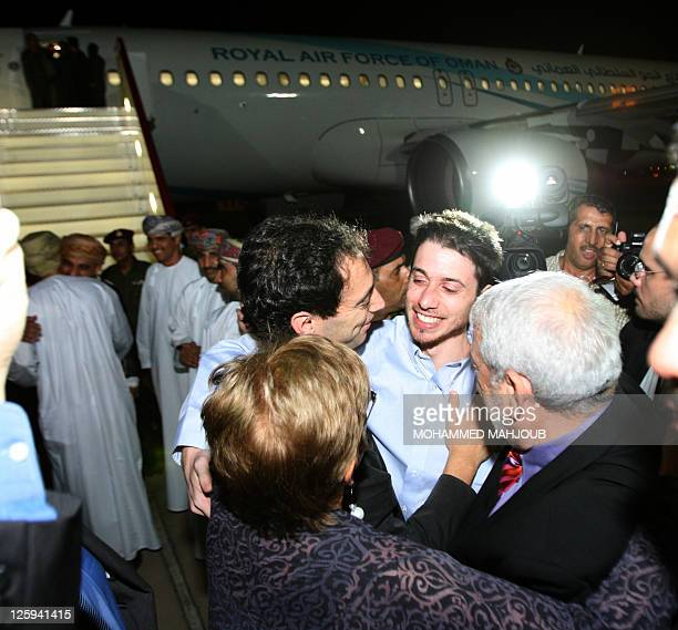 American hiker Josh Fattal is greeted on September 21 2011 in Muscat Oman after Tehran released him and Shane Bauer on bail months after handing them...