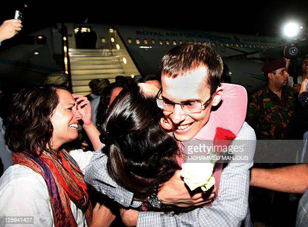 American hiker Shane Bauer is greeted on September 21 2011 in Muscat Oman after Tehran released him and Josh Fattal on bail months after handing them...