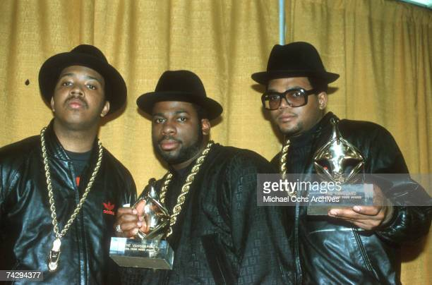 American hip hop band RunDMC circa 1985
