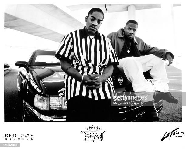 American hip hop duo Outkast poses