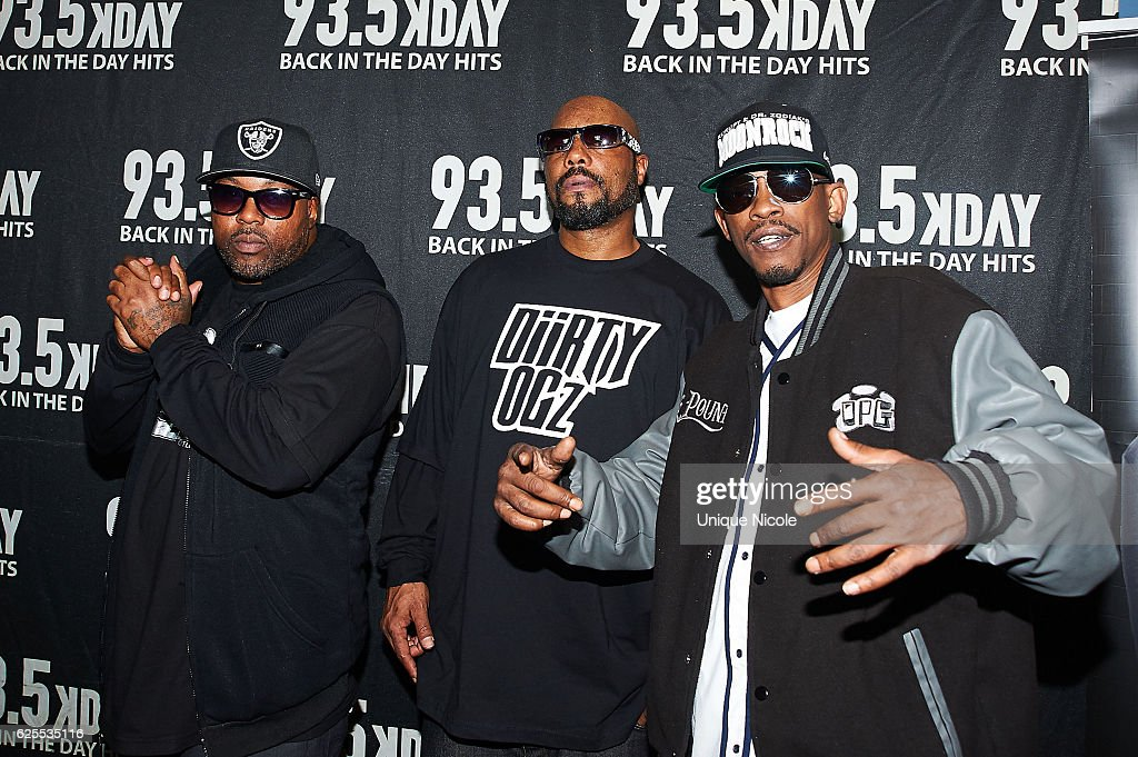 American hip hop duo Tha Dogg Pound, Daz Dillinger, Tha Chill and Kurupt at 93.5 KDAY's Hip Hop Harvestat Microsoft Theater on November 23, 2016 in Los Angeles, California.