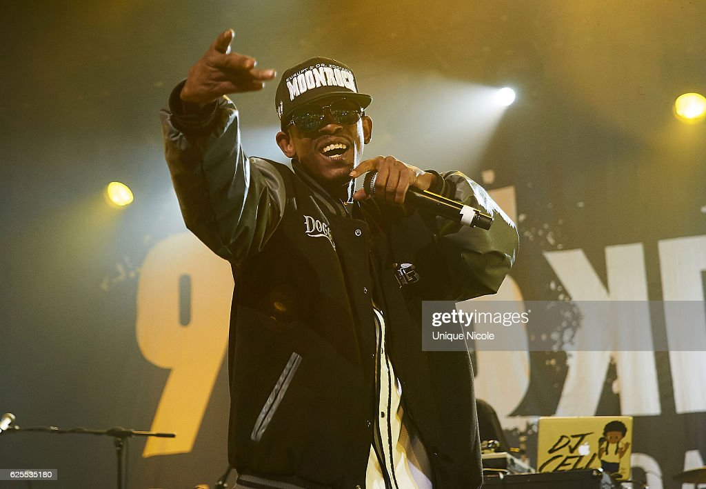 American hip hop duo Tha Dogg Pound, Kurupt and Daz Dillinger perform at 93.5 KDAY's Hip Hop Harvestat Microsoft Theater on November 23, 2016 in Los Angeles, California.