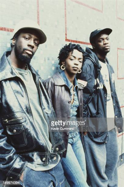 American hip hop group Fugees circa 1995 Left to right Wyclef Jean Lauryn Hill and Pras Michel