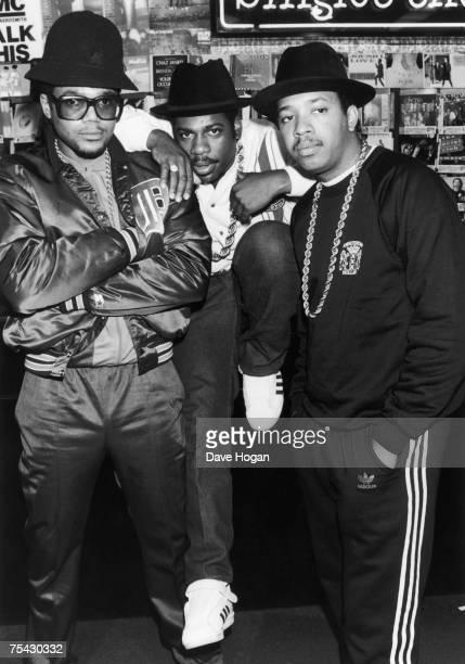 American hip hop group Run DMC, 1986. Left to right: Darryl 'D.M.C.' McDaniels, Jason 'Jam-Master Jay' Mizell and Joseph 'DJ Run' Simmons.
