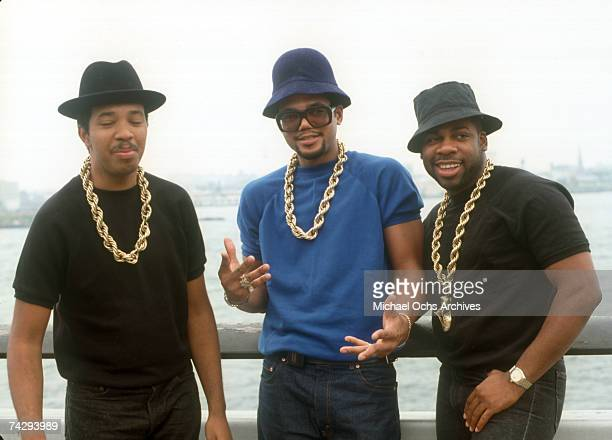 American hip hop group Run DMC circa 1985
