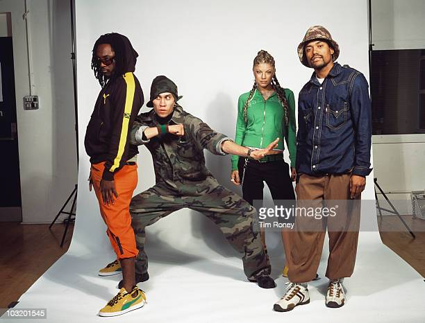 American hip hop group The Black Eyed Peas circa 2005 From left to right they are william Taboo Fergie and apldeap