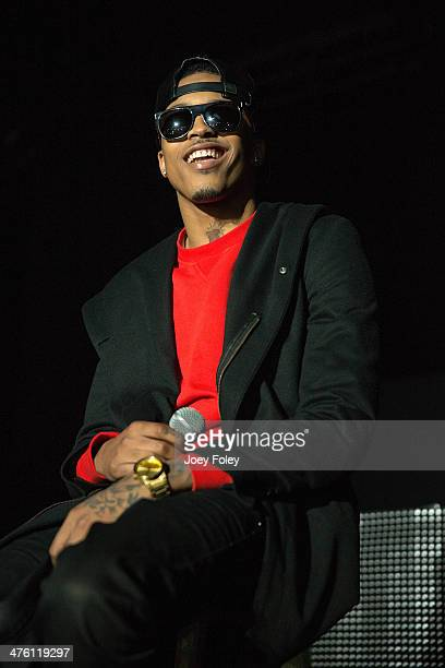 American hip hop singer August Alsina performs live onstage in concert as he opens for 2 Chainz during the 2 Good To Be T.R.U. Tour in The Egyptian...