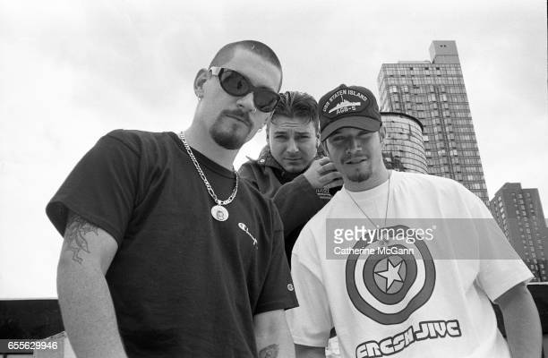 American hiphop group House of Pain LR Everlast DJ Lethal Danny Boy pose for a portrait in August 1992 in New York City New York