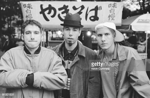 American hiphop group the Beastie Boys Japan November 1994 Left to right Adam AdRock' Horovitz Michael 'Mike D' Diamond and Adam 'MCA' Yauch
