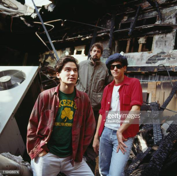 American hiphop group the Beastie Boys Los Angeles circa 1990 Left to right Adam 'AdRock' Horovitz Michael 'Mike D' Diamond and Adam 'MCA' Yauch