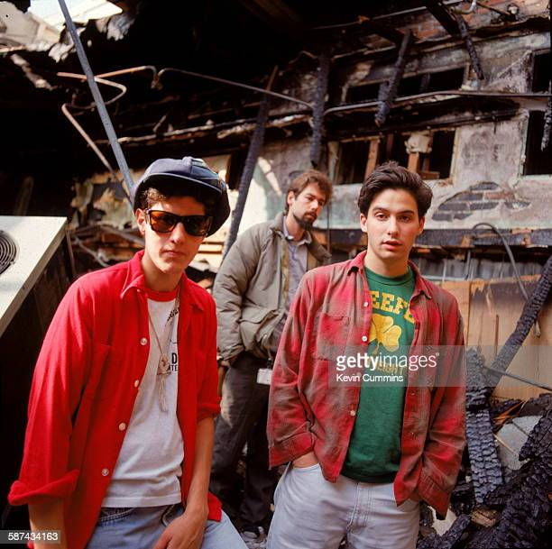 American hiphop group the Beastie Boys Los Angeles 14th June 1989 Left to right Adam 'MCA' Yauch Michael 'Mike D' Diamond and Adam 'AdRock' Horovitz