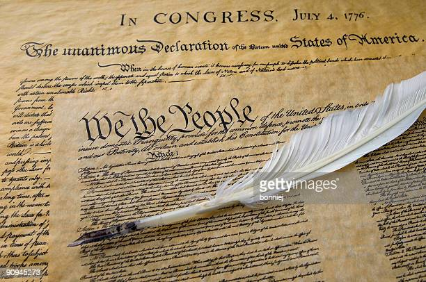 american history 2 - quill pen stock photos and pictures