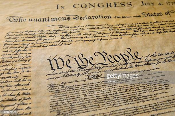 american history - bill of rights stock photos and pictures