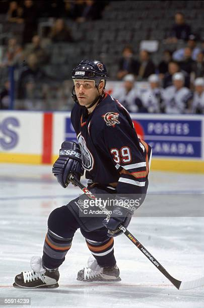 American hockey player Doug Weight of the Edmonton Oilers skates on the ice November 2000