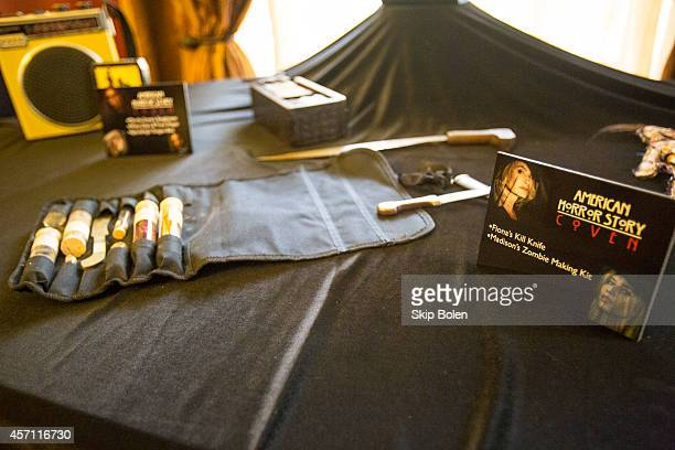 American Horror Story wardrobe and props displayed in celebration of the 'American Horror Story Coven' BluRay and DVD October 7th release at Buckner...