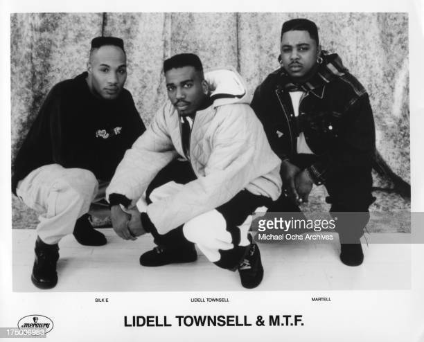 American house music artist Lidell Townsell and the duo MTF Silk E abd Martell pose for a Mercury Records publicity photo to promote the album...