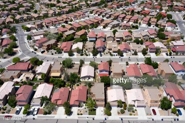上から見たアメリカの住宅開発 - 都市乱開発 ストックフォトと画像