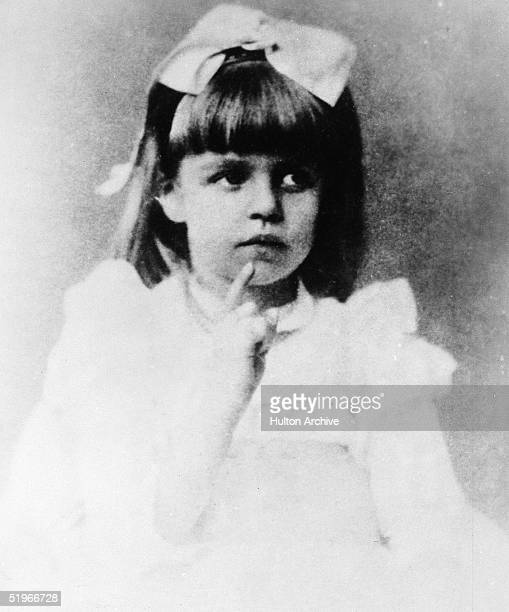 American humanitarian Eleanor Roosevelt poses for a portrait at a young age, late 1880s.
