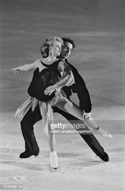American ice dancers Judy Blumberg and Michael Seibert perform for the United States in an ice dance routine as part of the World Tour Gala at...