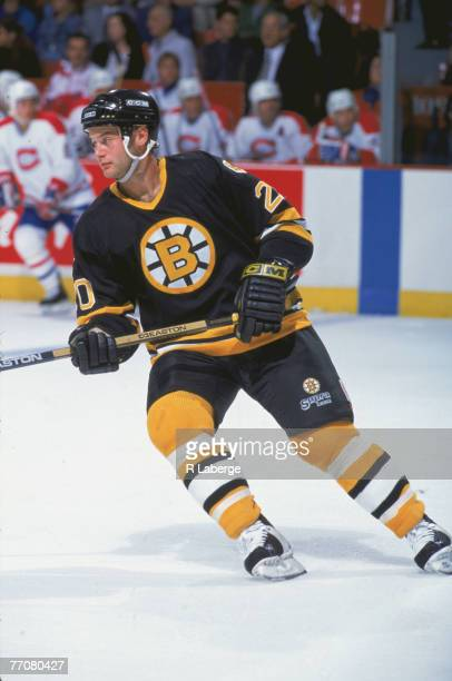 American ice hockey player Bryan Smolinski of the Boston Bruins on the ice during a game against the Montreal Canadiens early 1990s