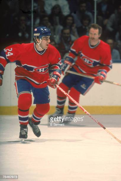 American ice hockey player Chris Chelios of the Montreal Canadiens on the ice during the 1983 1984 season