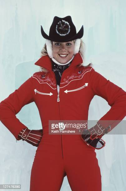 American ice skating champion LynnHolly Johnson as Bibi Dahl in the James Bond film 'For Your Eyes Only' 1981