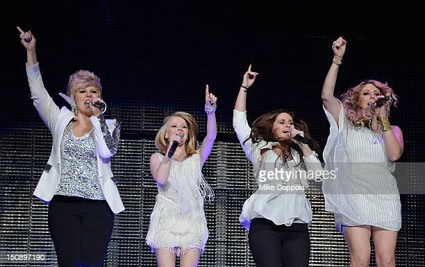 American Idol 2012 runnerups Erika Van Pelt Hollie Cavanagh Skylar Laine and Elise Testone perform during the American Idol Live tour at the...