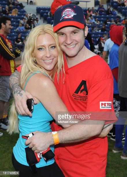 American Idol Blake Lewis and publicist Traci Szymanski attend Steve Garvey's Celebrity Softball Game for ALS at Pepperdine University on July 10...