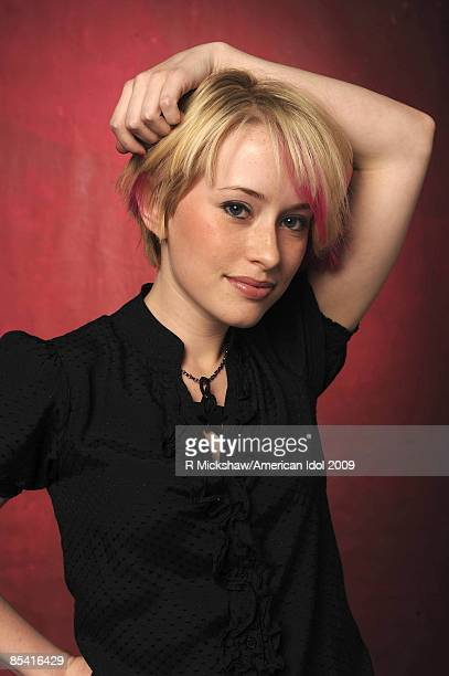 ACCESS*** American Idol contestant Alexis Grace poses for a Top 36 Gallery portrait January 19 2009 in Los Angeles California