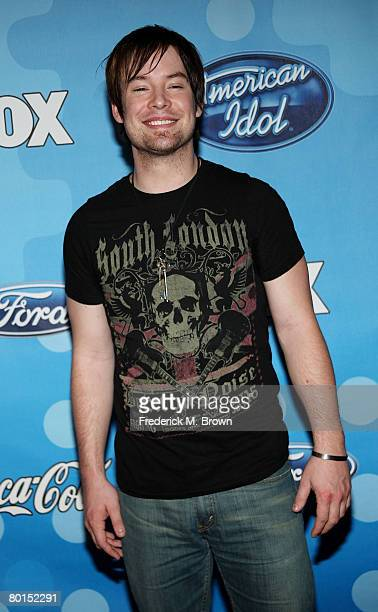 American Idol contestant David Cook attends the American Idol Top 12 Party at the Pacific Design Center on March 6 2008 in West Hollywood California